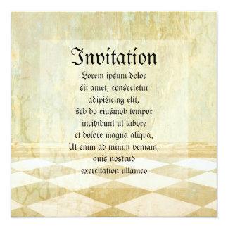 "Royal Coordinates Plain 5.25"" Square Invitation Card"
