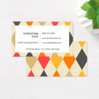 Royal Court Harlequin Business Card
