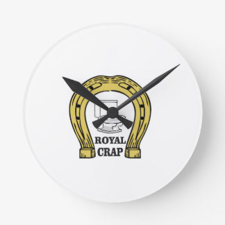 royal crap load wall clock