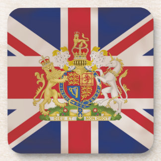 Royal Crest on Union Jack. Coaster
