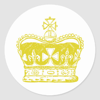 Royal Crown Graphic Classic Round Sticker