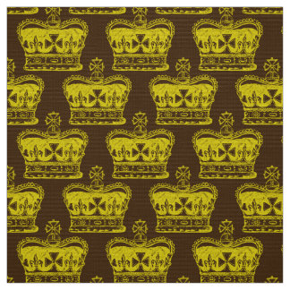 Royal Crown Graphic Fabric