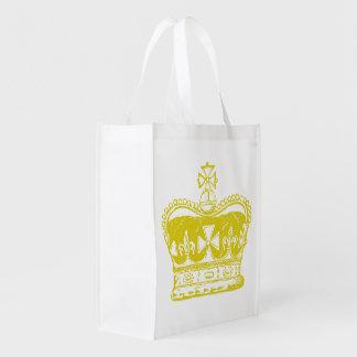 Royal Crown Graphic Reusable Grocery Bag