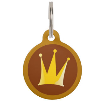 Royal Crown Pet ID Tag