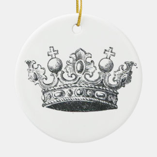 Royal Crown Round Ceramic Ornament