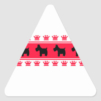 Royal Crown Scotties Triangle Stickers