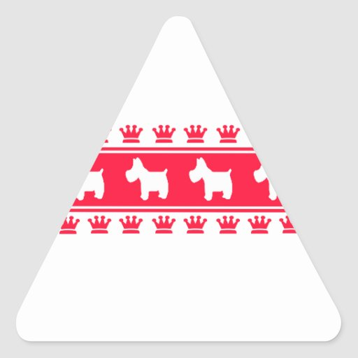 Royal Crown Westies Triangle Stickers