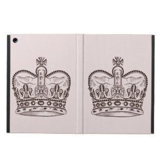 Royal design with crown in vintage style iPad air cover