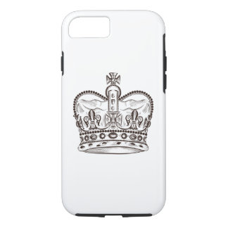 Royal design with crown in vintage style iPhone 8/7 case