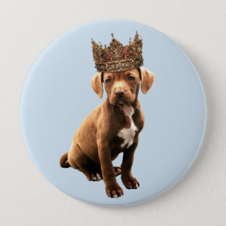 royal Dog #1 4 Inch Round Button