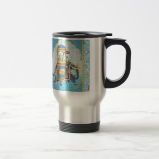 ROYAL ELEPHANT RIDE VINTAGE INDIAN ART TRAVEL MUG
