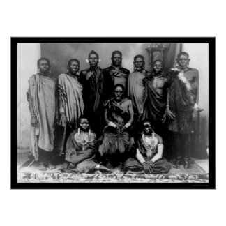 Royal Family in Kenya 1909 Poster