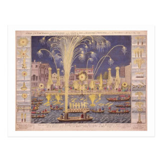 Royal Fireworks Postcard