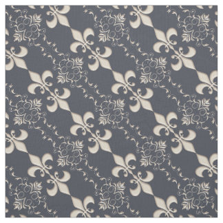 Royal, Fleur de Lis pattern Fabric