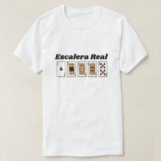 Royal Flush and Spanish text: Escalera Real T-Shirt