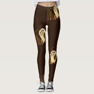 Royal Flush Cards And Chips Poker Player Leggings