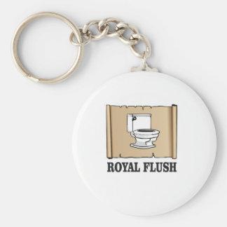 royal flush dump basic round button keychain
