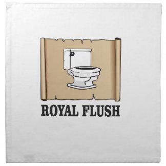 royal flush dump napkin