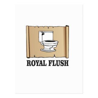 royal flush dump postcard