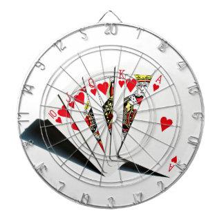 Royal Flush Hearts Dartboard