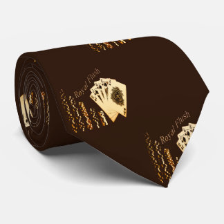 Royal Flush Playing Cards And Chips Necktie