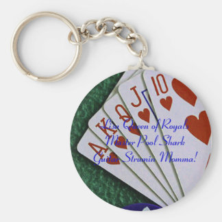 Royal Flush Queen Keychain