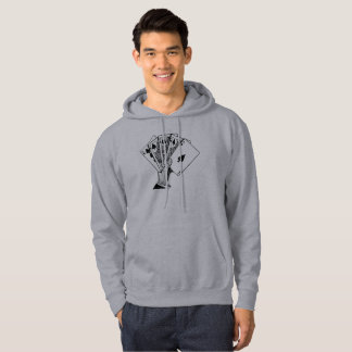 Royal Flush Vintage Illustration Stickers Hoodie
