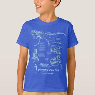 Royal foncé de chemise squelettique de t-shirt