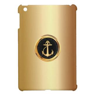 Royal Gold Anchor Metal Look iPad mini Case