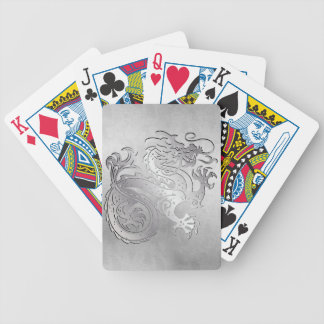 Royal Gold Dragon Play Cards - Distressed 1C