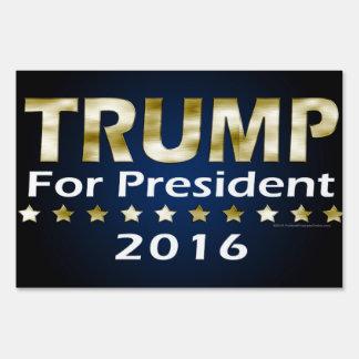 Royal Gold Metallic Look Vote Donald Trump 16 Sign