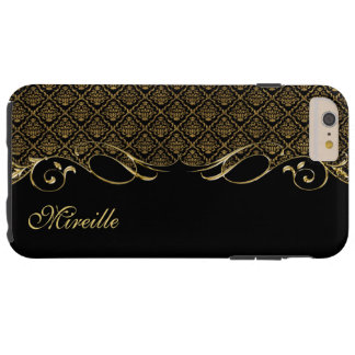 Royal Golden Damask iPhone 6 Plus Monogram Case