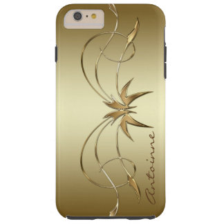 Royal Golden Ornament Custom Monogram Template Tough iPhone 6 Plus Case