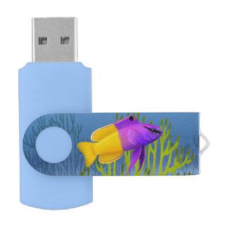 Royal Gramma Coral Reef Fish 64GB Flash Drive Swivel USB 3.0 Flash Drive