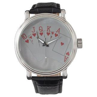 Royal_Heart_Flush_Poker_Mens_Leather_Vintage_Watch Wristwatch