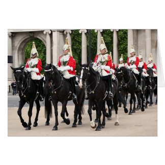 Royal Household Cavalry, London, England Card