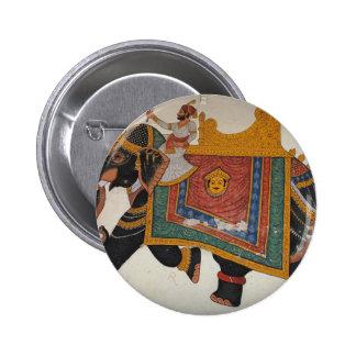 Royal Indian Elephant Button