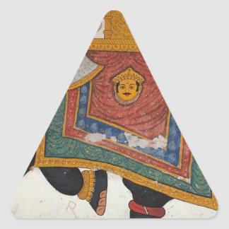 Royal Indian Elephant Triangle Sticker