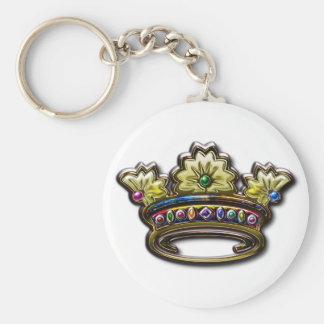 Royal Jeweled Crown Keychain