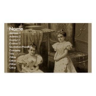 Royal Lilliputians, 'The Cautna Sisters' Vintage T Business Card