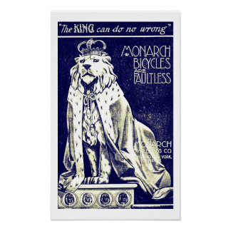 Royal Lion British Vintage Bicycle Ad Print
