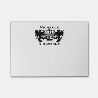 Royal Lion Monogram Post-it® Notes