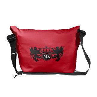 Royal Lion Monogram Red Commuter Bag