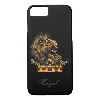Royal Lion on Crown iPhone 7 Case