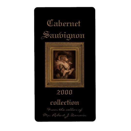 Royal Madame Framed Portrait Wine Label
