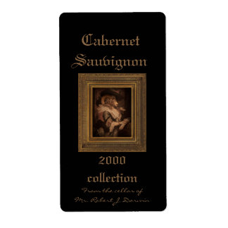 Royal Madame Framed Portrait Wine Label Shipping Label