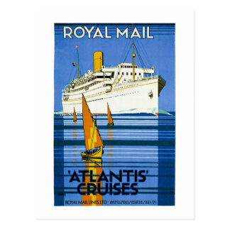 Royal Mail Atlantis Cruises Vintage Postcard