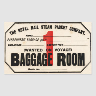 Royal Mail Steam Packet Co Sticker