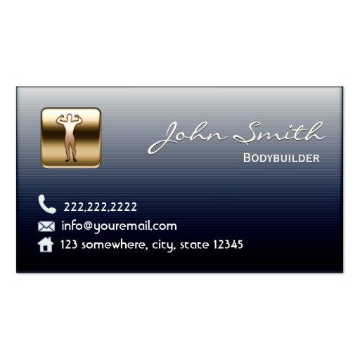 Royal Midnight Blue Bodybuilding Business Card
