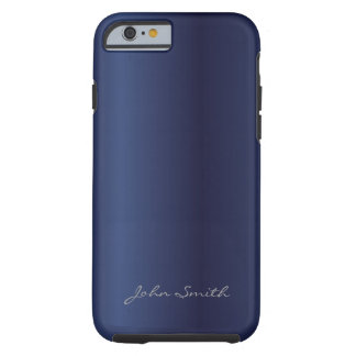 Royal Midnight Blue with Custom Name iPhone 6 case